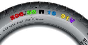 Značení na pneu